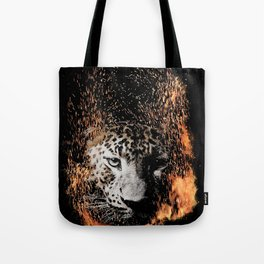 Leopard Blaze Tote Bag