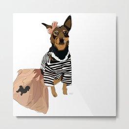 Grease Lightning Dog Metal Print
