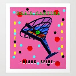 Oga's Cantina Black Spire Art Print