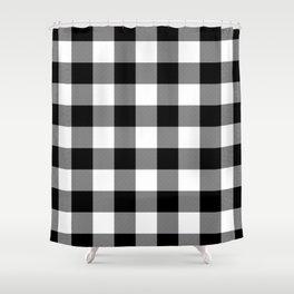 Gingham (Black/White) Shower Curtain