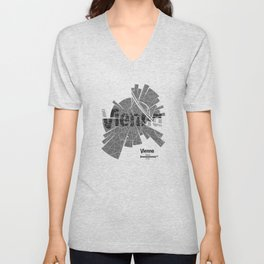 Vienna Map Unisex V-Neck