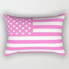 The Pink Flag  Rectangular Pillow