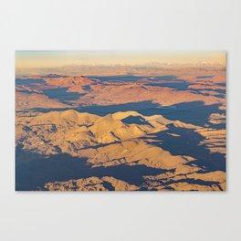 Andes Mountains Desert Aerial Landscape Scene Canvas Print
