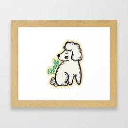 Poodle dog Framed Art Print