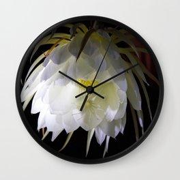 Night Blooming Cereus Wall Clock
