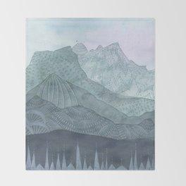 Living as the Mountains Do Throw Blanket