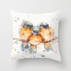 Little Bluebirds Throw Pillow