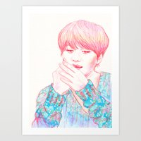 shinee Art Prints featuring SHINee Taemin by sophillustration