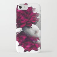ferret iPhone & iPod Cases featuring Rosy Ferret by Clara J Aira