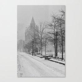 Toronto Flatiron Building in Winter Canvas Print