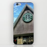 starbucks iPhone & iPod Skins featuring Starbucks by Chelsea Gibson