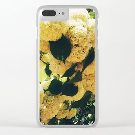 Yellow Snowballs Clear iPhone Case