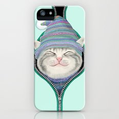 Cat in the zip iPhone (5, 5s) Slim Case
