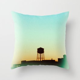 New York Rooftop Throw Pillow