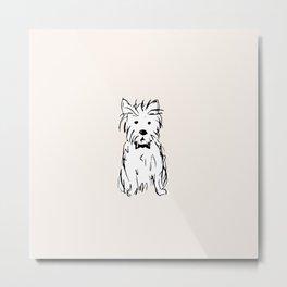 Milo the dog Metal Print