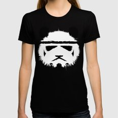 Panda Trooper Black LARGE Womens Fitted Tee