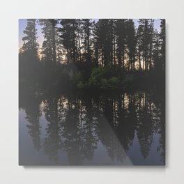 Manzanita Lake at Sunset Metal Print