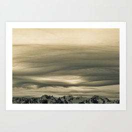 Olympic Mountains Calling Art Print