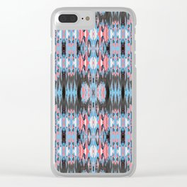 American Ikat Clear iPhone Case