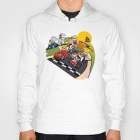 mario kart Hoodies featuring Super Fighting Kart by Legendary Phoenix