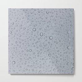 Rainy Day Water Drops Metal Print