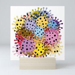 Pandemic - multiplication of viruses Mini Art Print