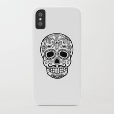 Mexican Skull - White Edition Slim Case iPhone X