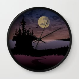 Halloween castle Wall Clock