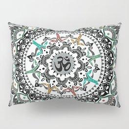 """Om"" Psychedelica Mandala Pillow Sham"
