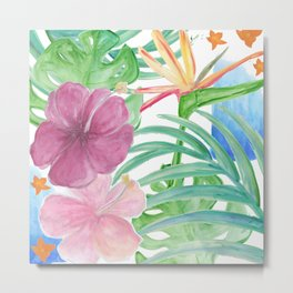 Malia's Tropical Print Metal Print