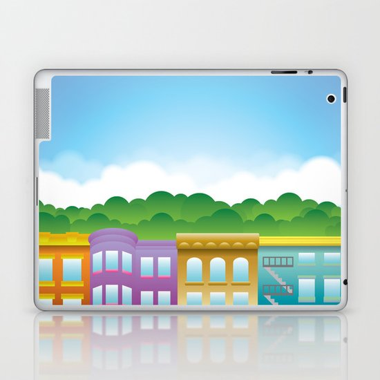 Brooklyn Brownstones Laptop & iPad Skin