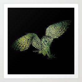 3:33 Owl Art Print