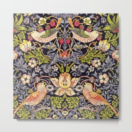 William Morris Strawberry Thief Art Nouveau Painting Metal Print
