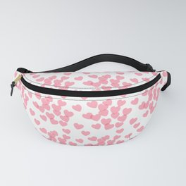 Seamless pink pattern with hearts Fanny Pack