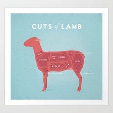 Lamb Cuts Poster Art Print