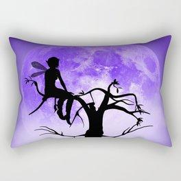 Moonlight Wondering Fairy - Purple Rectangular Pillow