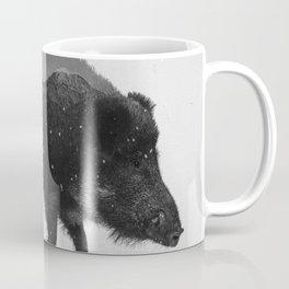 Wild Boar (B&W) Coffee Mug