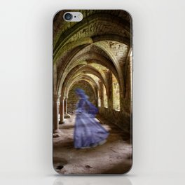 Blue Spectre in the Abbey iPhone Skin