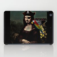 mona lisa iPad Cases featuring  Mona Lisa Pirate Captain by Gravityx9
