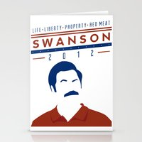 swanson Stationery Cards featuring Swanson 2012 by Clarke Hall