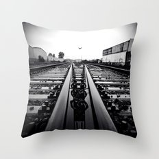Gritty City railway Throw Pillow