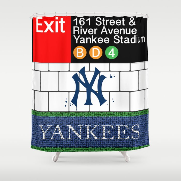 NYC Yankees Subway Shower Curtain By Robsmiddesigns