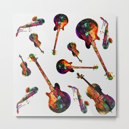 music abstract Metal Print
