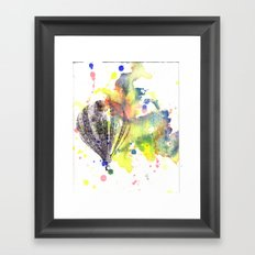 Hot Air Balloon Rising in Color Framed Art Print