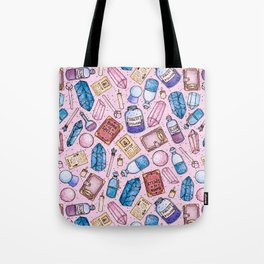 Witchy Stuff Pink Tote Bag