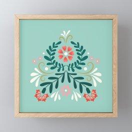 Floral Folk Pattern Framed Mini Art Print