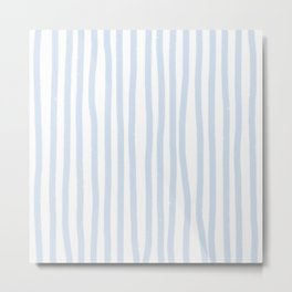 Light Blue Stripes Metal Print