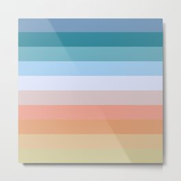 Multicolor Stripes - Tiyanak Metal Print