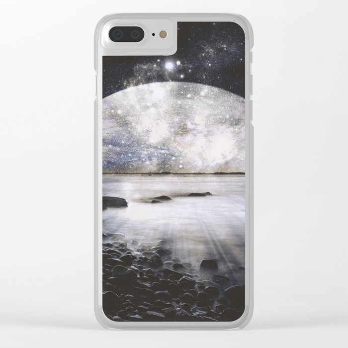 Mystic Lake Dark & Gray Clear iPhone Case
