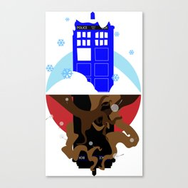 Upside Down Time Travel Canvas Print